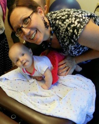 Pediatric chiropractor, Dr. Jolene Kuty works with infants and children.