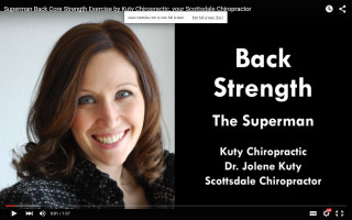 Back strength video with the superman by Dr. Jolene Kuty, Kuty Chiropractic